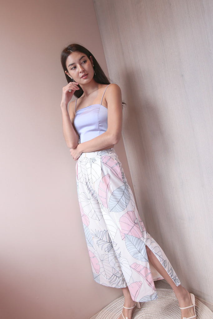 (PREORDER) *TPZ* CARLA PRINTED PANTS IN NEUTRAL TROPICS