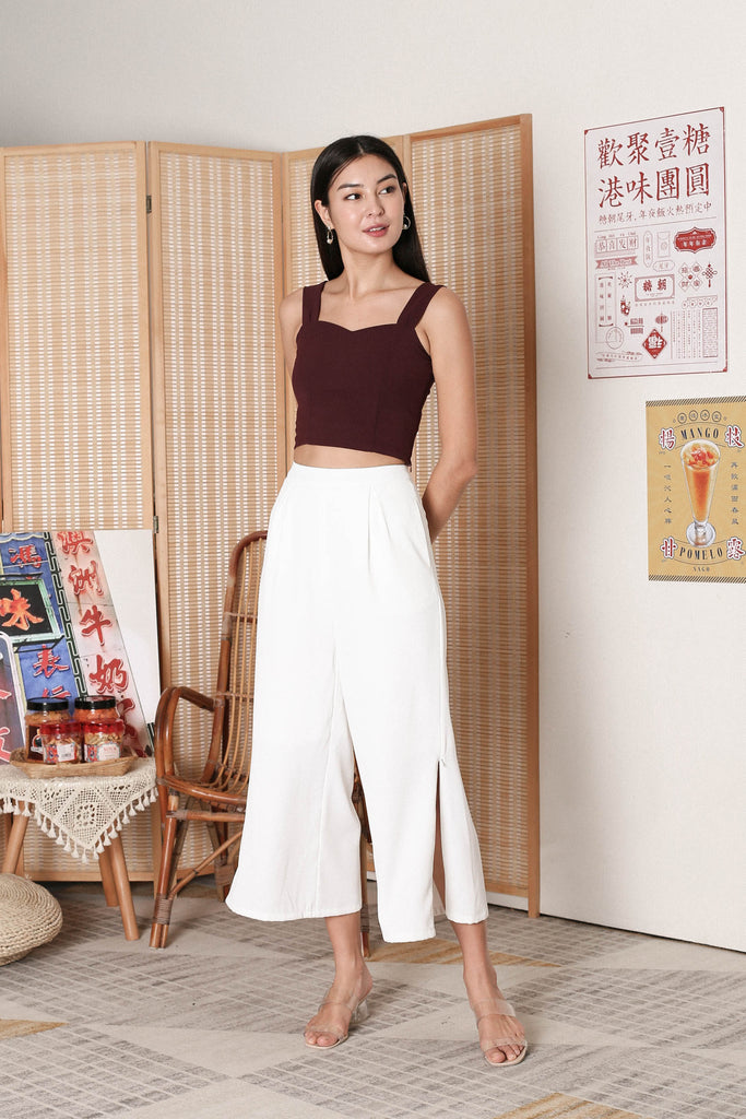 *TPZ* ALYZA CROP TOP IN PLUM