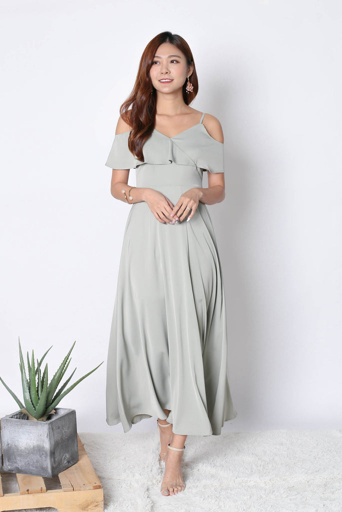 *TPZ* (PREMIUM) MAIZIE MAXI DRESS IN SAGE GREEN