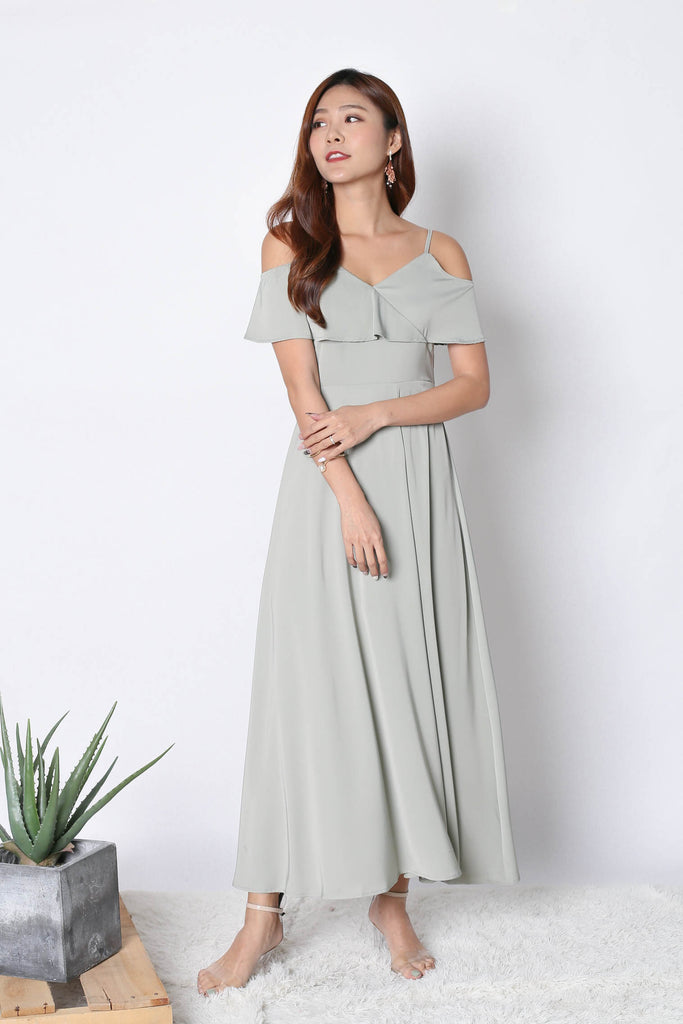 *TPZ* (PREMIUM) MAIZIE MAXI DRESS IN SAGE GREEN - TOPAZETTE