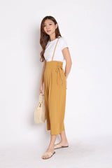*BACKORDER* QOUNTY LACED DUNGAREE SET IN MUSTARD