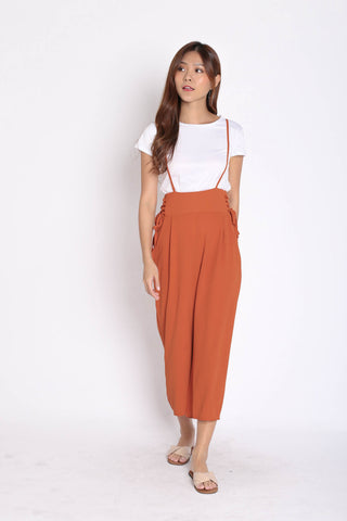 *BACKORDER* QOUNTY LACED DUNGAREE SET IN TERRACOTTA