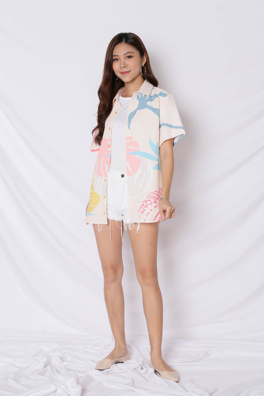(PREMIUM) ALOHA UNISEX SHIRT IN CREAM - TOPAZETTE