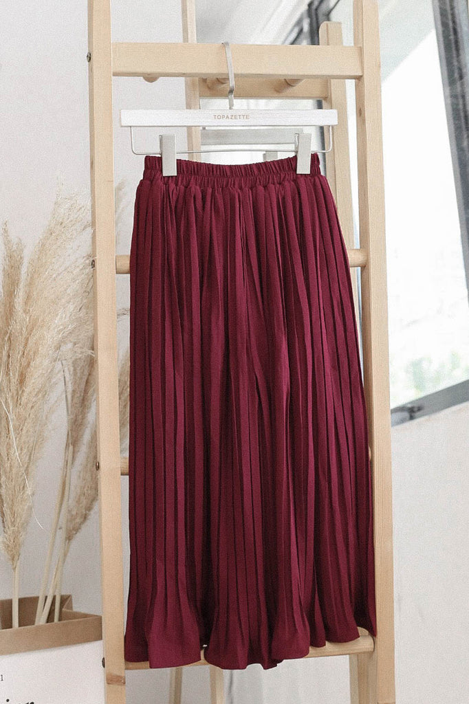 *TPZ* LEXI LEGENDARY PLEATED CULOTTES IN BURGUNDY