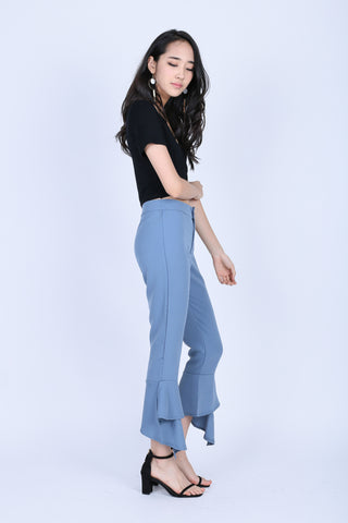 LAYLA PANTS IN DUSTY BLUE