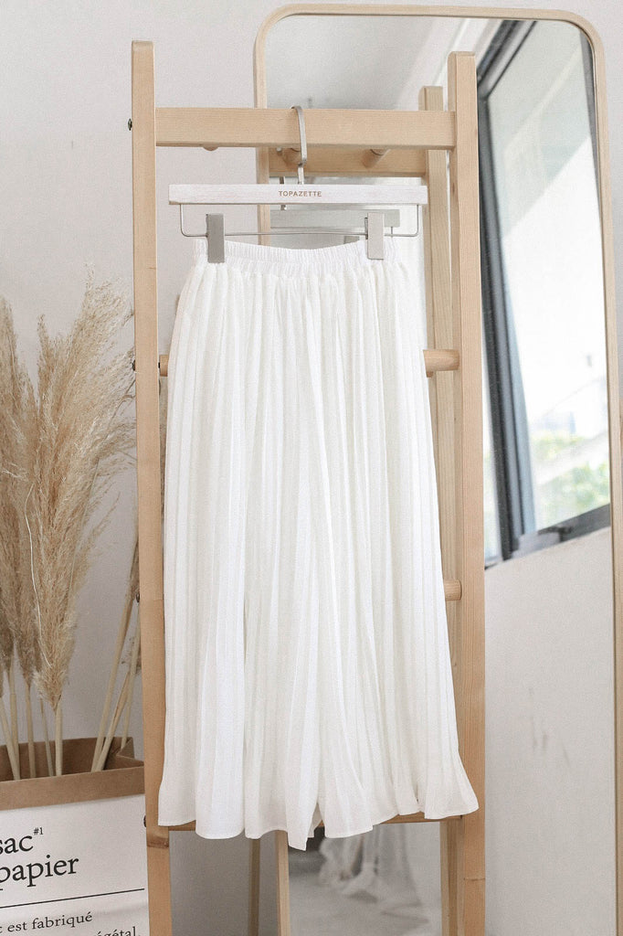 *TPZ* LEXI LEGENDARY PLEATED CULOTTES IN WHITE