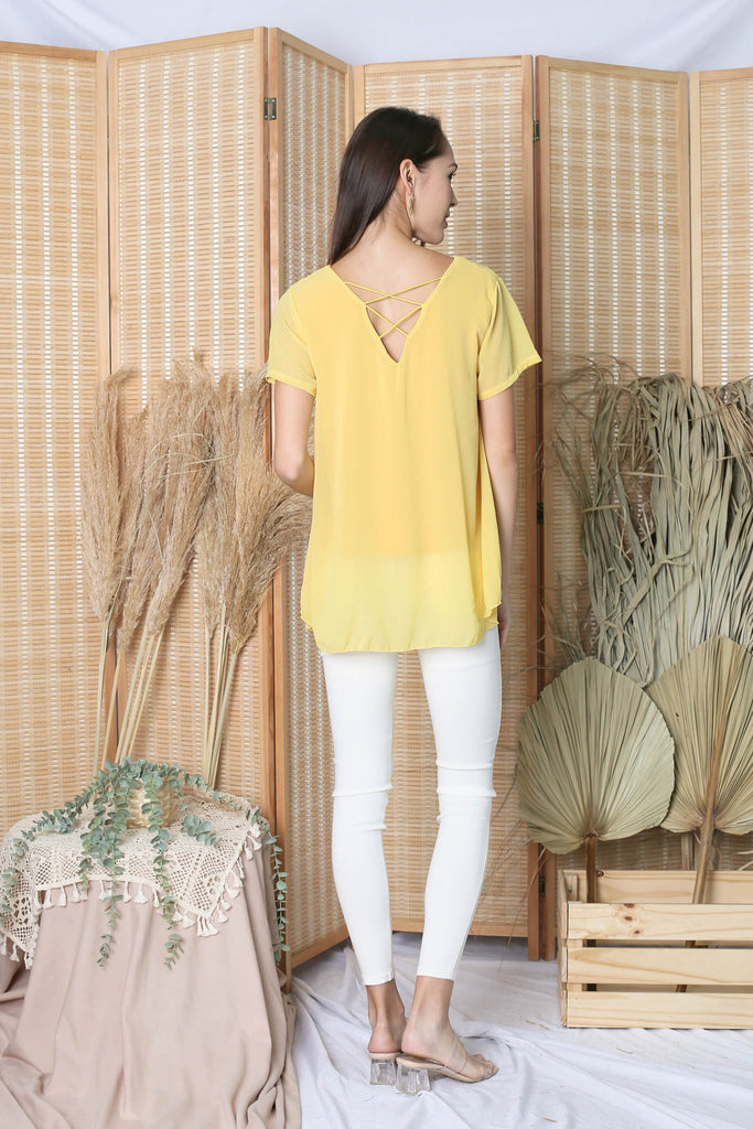GENESIS CHIFFON TOP IN SUNSHINE