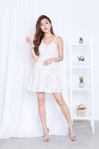 *TOPAZ* (PREMIUM) XENIA LACE DRESS IN WHITE