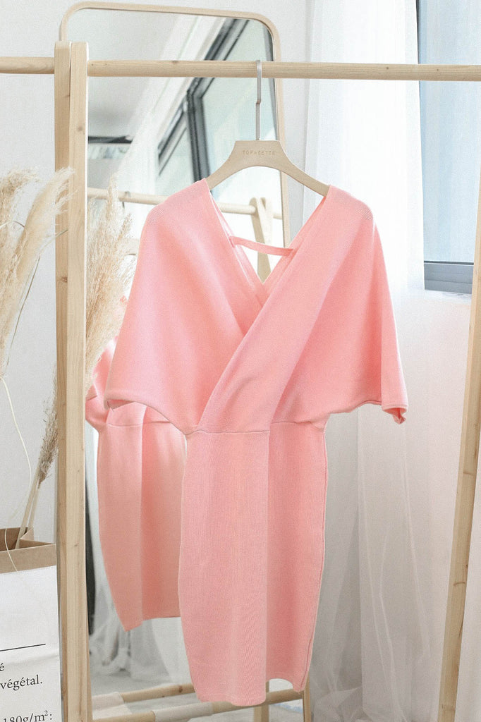 *BACKORDER* OLIS KIMONO DRESS IN BABY PINK