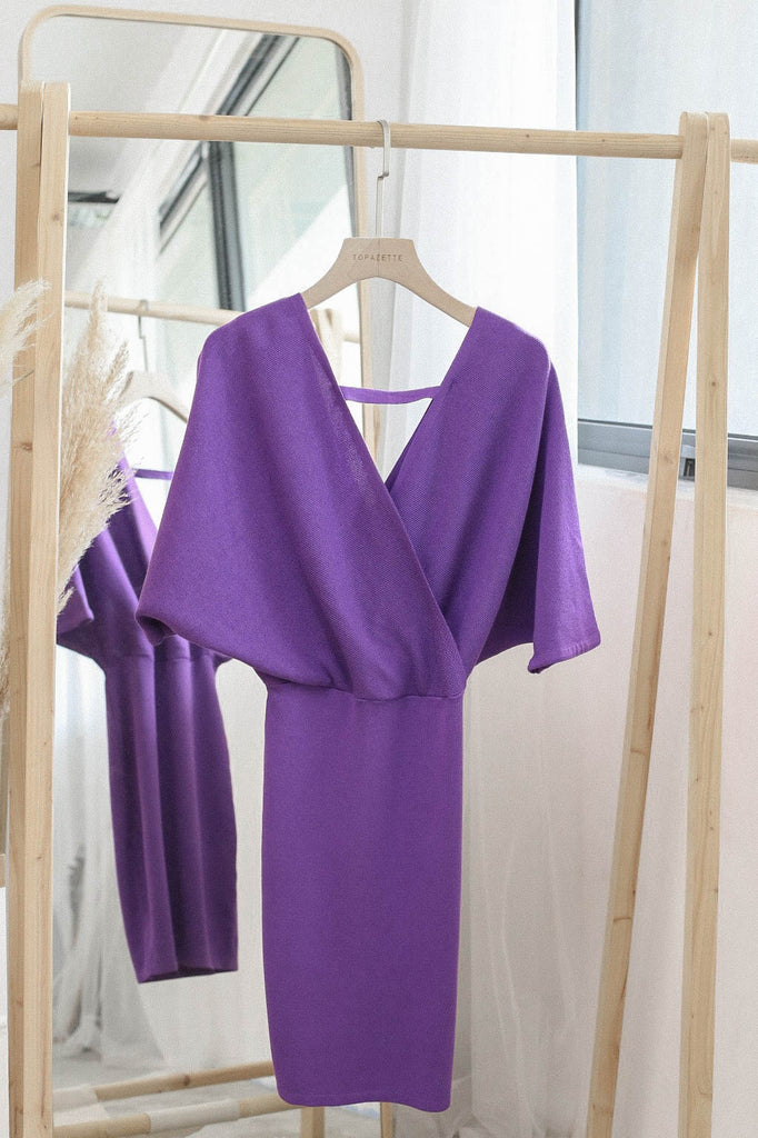 OLIS KIMONO DRESS IN ROYAL PURPLE