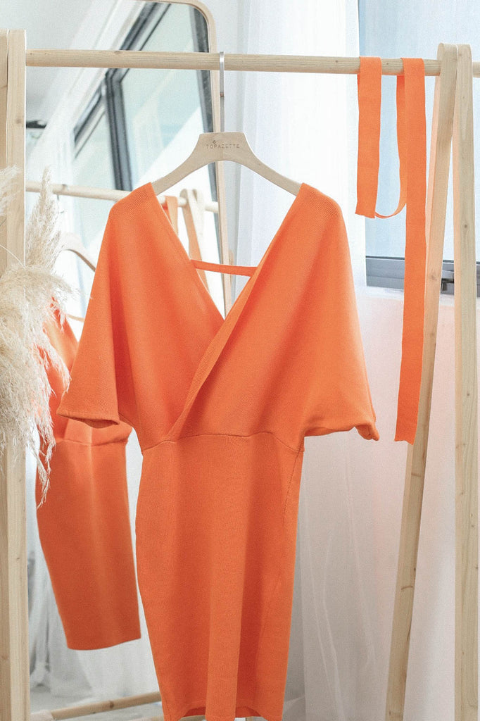 OLIS KIMONO DRESS IN ORANGE