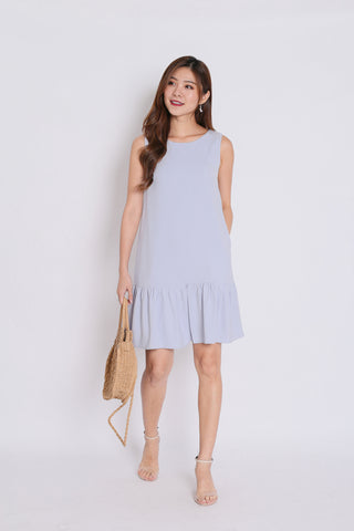 5640c4279c7 (PREMIUM) RENELL RUFFLES SHIFT DRESS IN LIGHT GREY