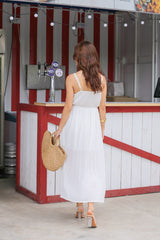 SELENZ EMBROIDERY MAXI IN WHITE