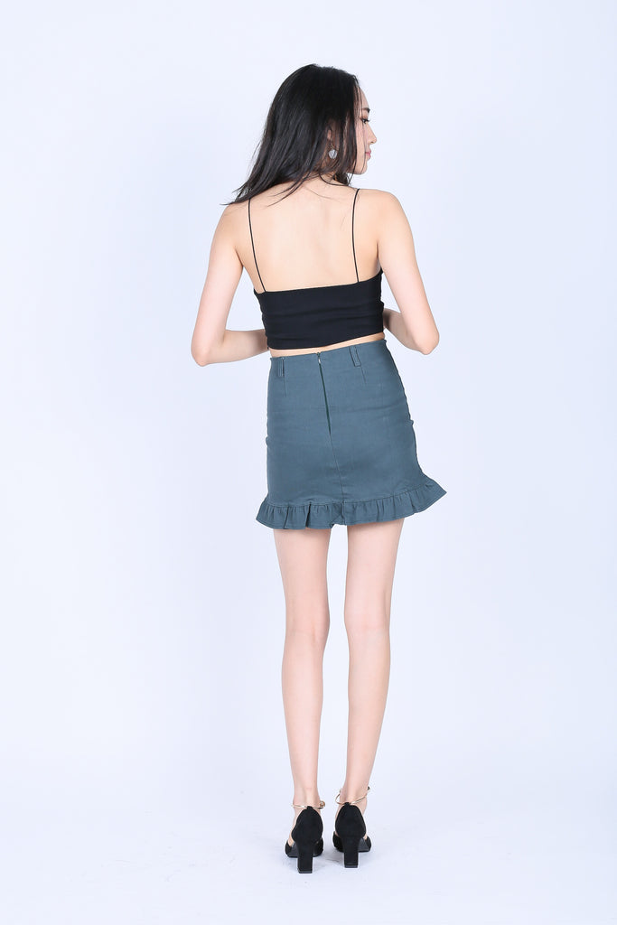 MERRITT MERMAID DENIM SKIRT IN TEAL