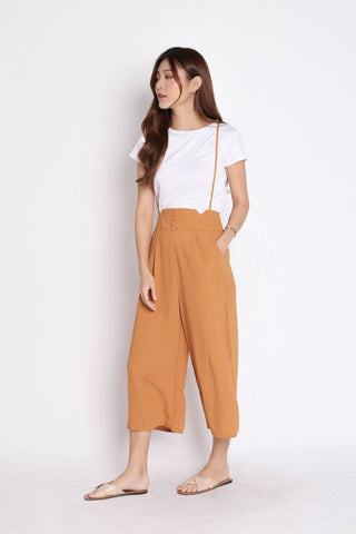 PALLAS BUTTON DOWN DUNGAREE SET IN MUSTARD