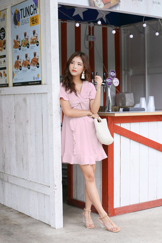 708bcac9ad3  TPZ  (PREMIUM) NELIZE RUFFLES DRESS IN DUSTY PINK