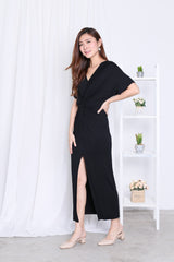 *BACKORDER* JORDYN SLIT MAXI IN BLACK