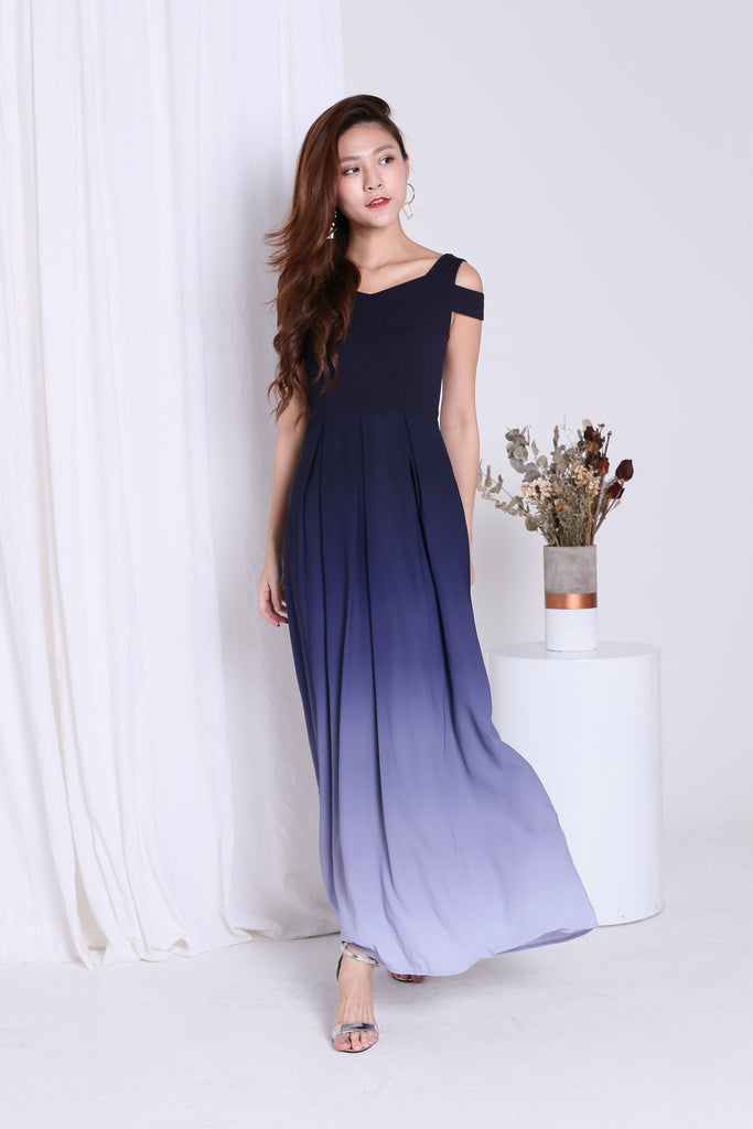 *PREMIUM* AFTER MIDNIGHT OMBRE MAXI (NAVY/GREY)