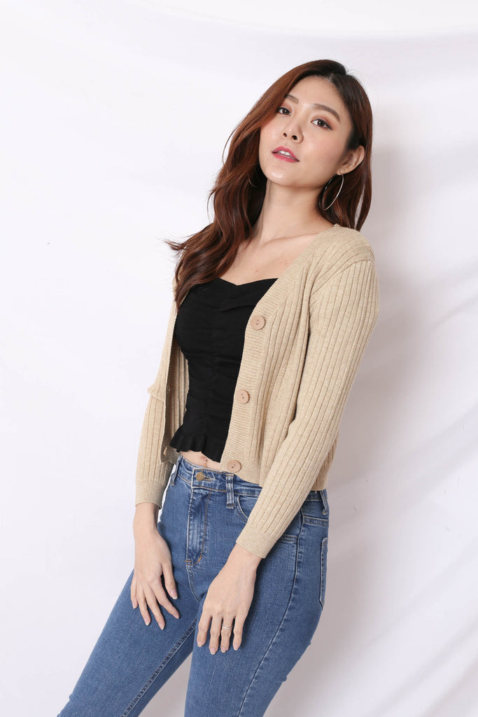 *BACKORDER* ELLISE CARDIGAN IN MALT