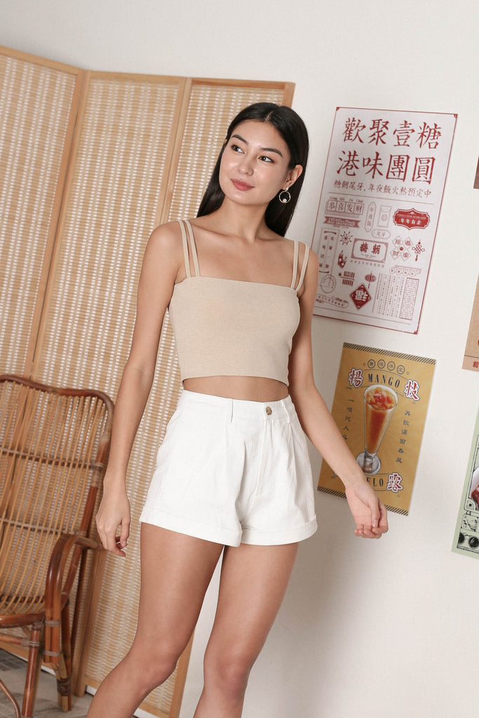 *TPZ* ZAELYN 2 WAY STRAP TOP IN SAND