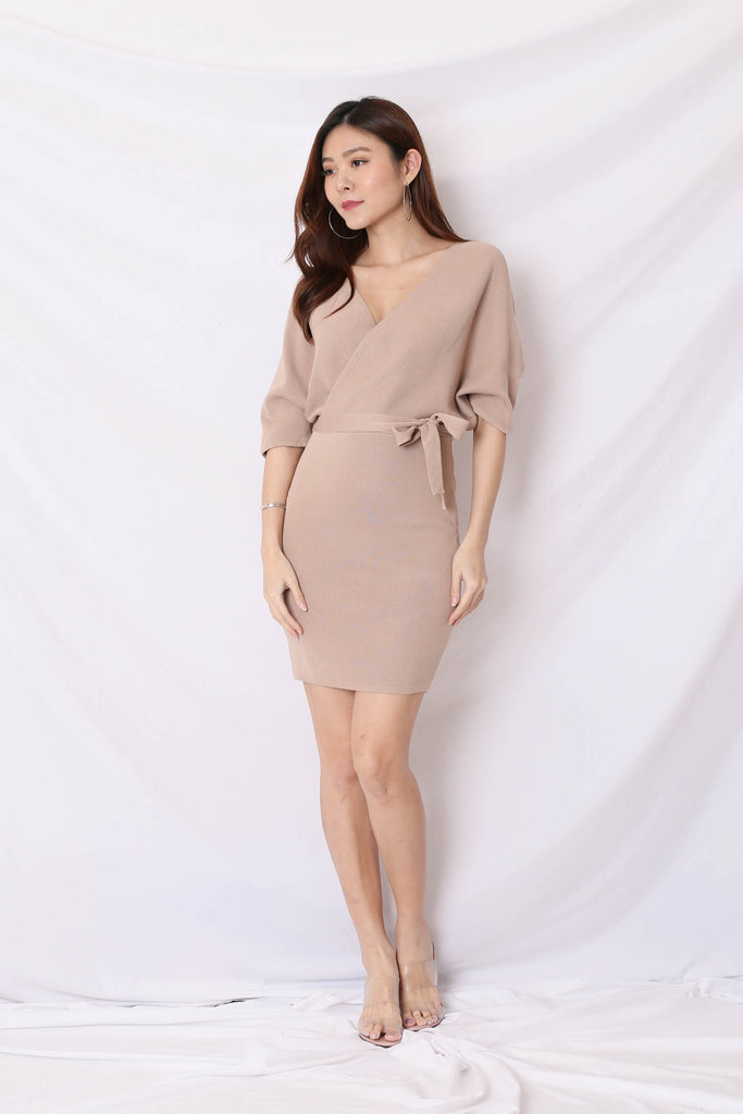 *BACKORDER* OLIS KIMONO DRESS IN TAUPE