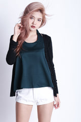 EVERYDAY KNIT CARDIGAN IN BLACK - TOPAZETTE