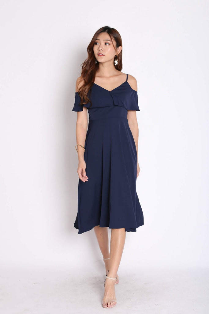 *TPZ* (PREMIUM) ISIDORA DRESS IN NAVY - TOPAZETTE