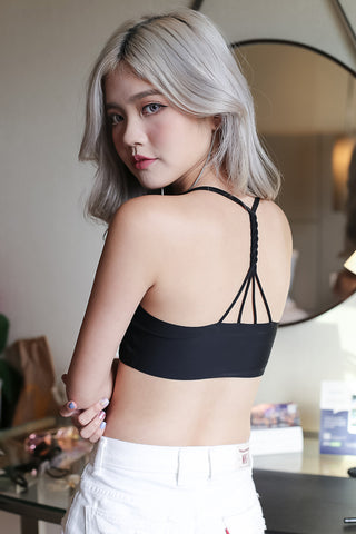 BRAIDED T BACK SEAMLESS BRA