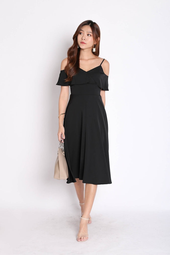*TPZ* (PREMIUM) ISIDORA DRESS IN BLACK - TOPAZETTE