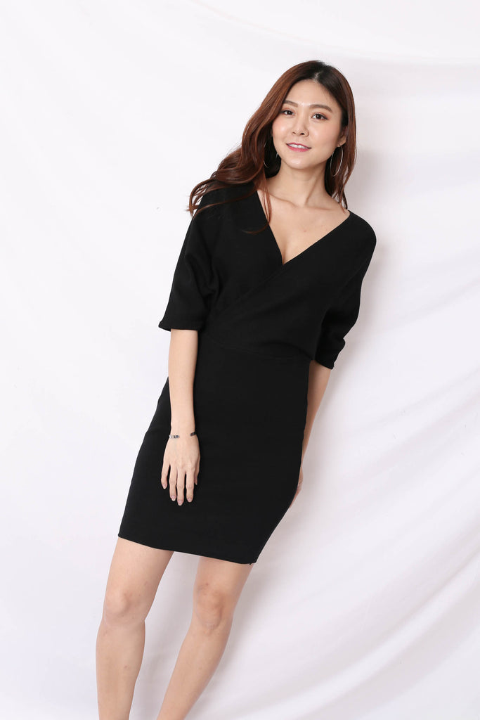 *BACKORDER* OLIS KIMONO DRESS IN BLACK