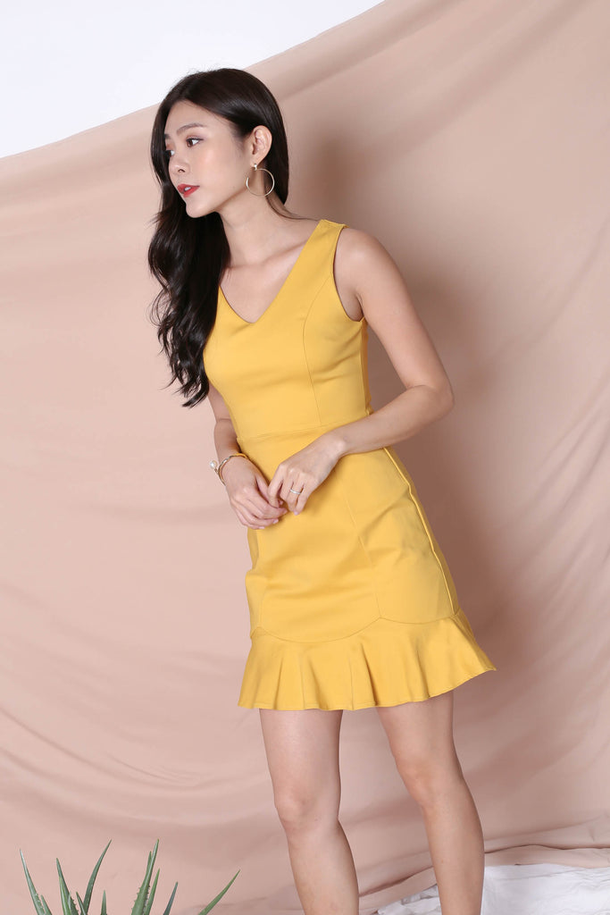 *TPZ* (PREMIUM) TILYS DRESS IN MARIGOLD - TOPAZETTE