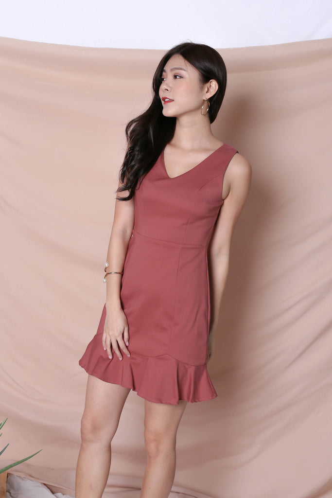 *TPZ* (PREMIUM) TILYS DRESS IN DUSTY CORAL - TOPAZETTE