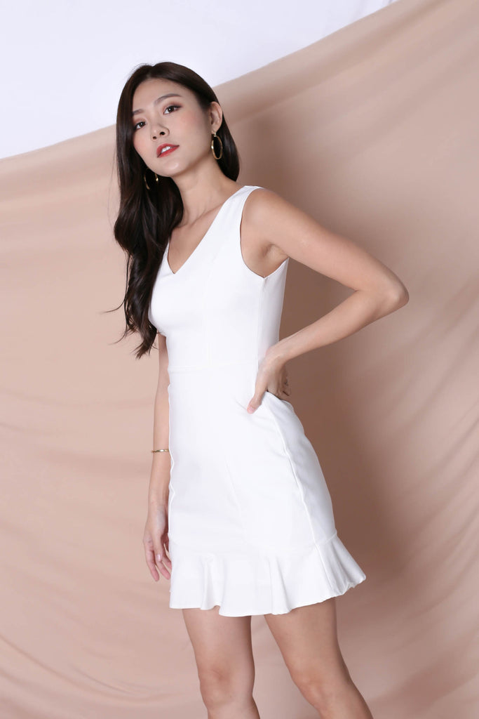 *TPZ* (PREMIUM) TILYS DRESS IN WHITE - TOPAZETTE