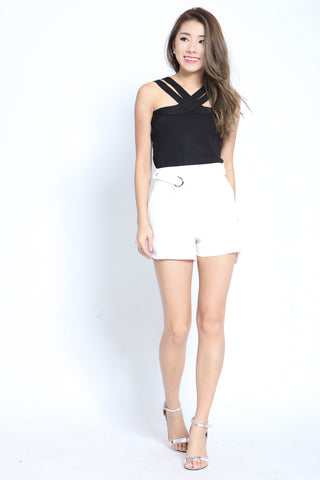 SLEEK AND SMART SHORTS IN WHITE