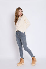 *BACKORDER* PENNY SOFT KNIT TOP IN CREAM