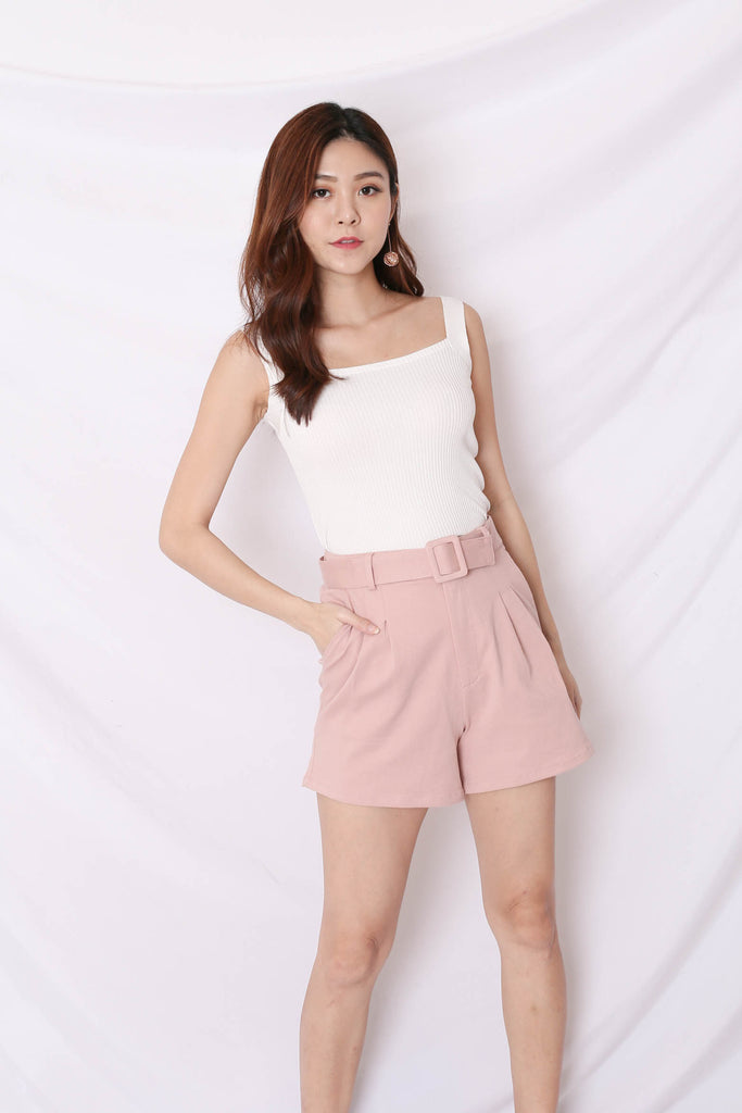 *TPZ* (PREMIUM) BREDA EVERY DAY HIGH WAISTED SHORTS IN BABY PINK