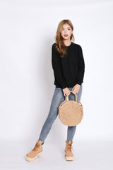 PENNY SOFT KNIT TOP IN BLACK