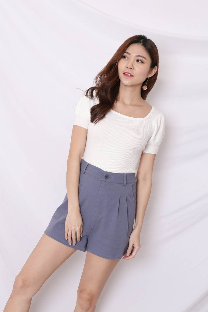*BACKORDER* HERA SOFT KNIT TOP IN WHITE