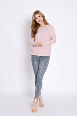 PENNY SOFT KNIT TOP IN DUSTY PINK
