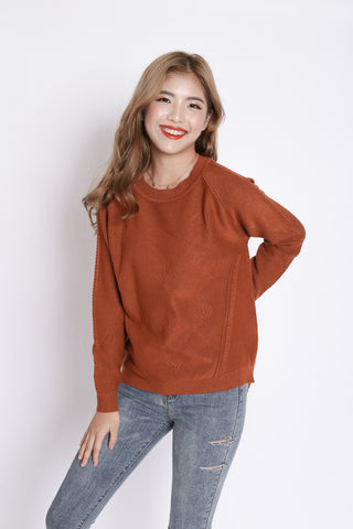 PENNY SOFT KNIT TOP IN RUST