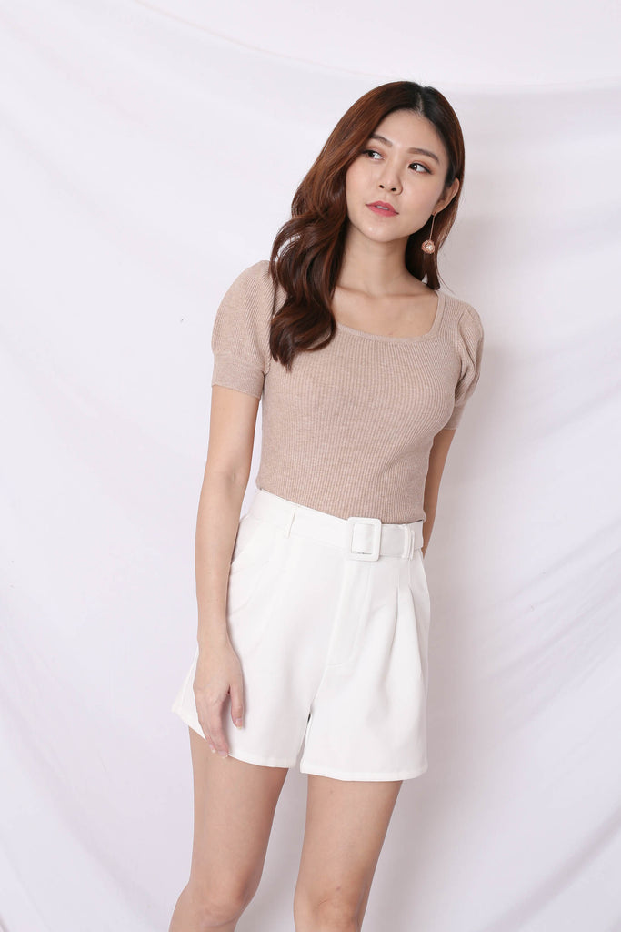 *BACKORDER* HERA SOFT KNIT TOP IN MALT