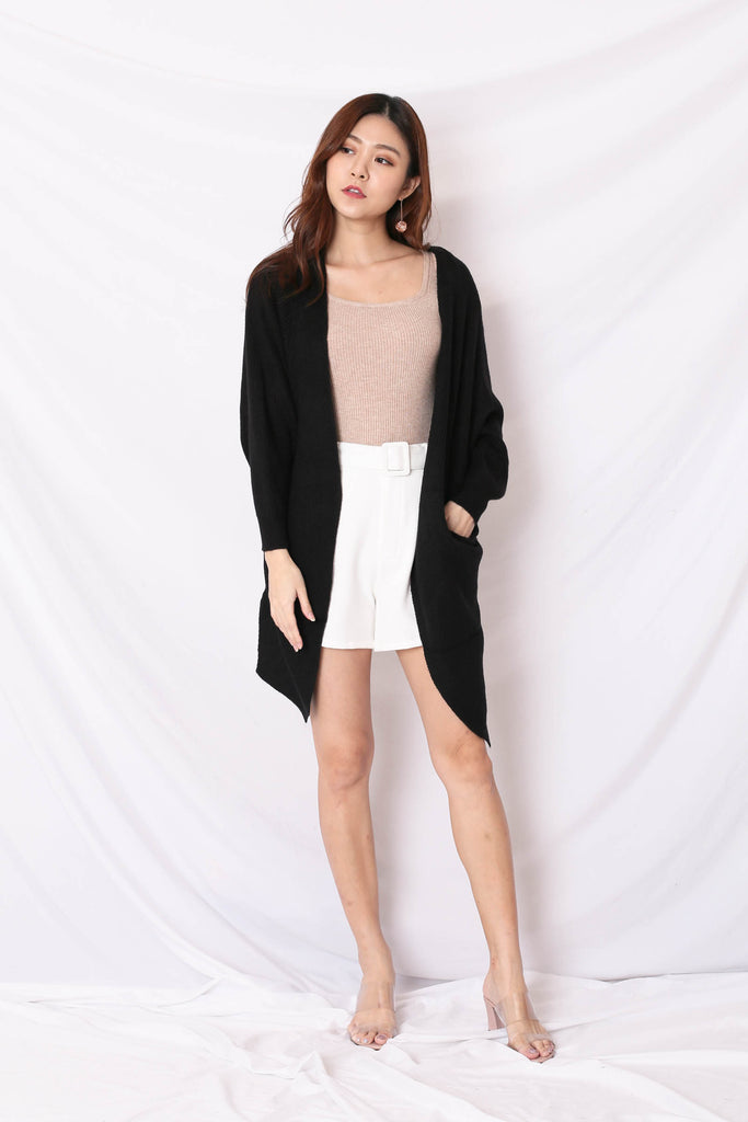 *BACKORDER* BEA COSY SOFT KNIT CARDIGAN IN BLACK