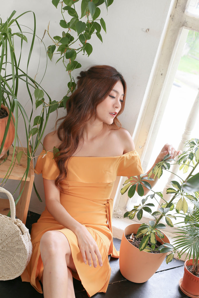 *TPZ* (PREMIUM) LUELLA DRESS IN MARIGOLD