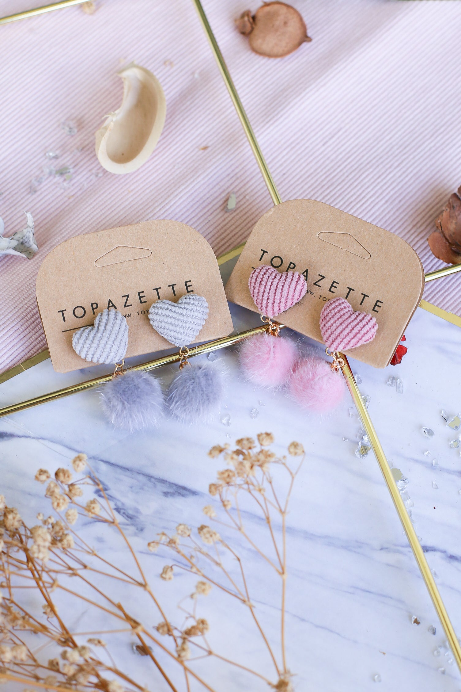 FURRY HEARTS EARRINGS