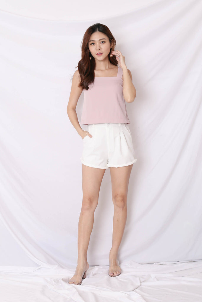 *TPZ* (PREMIUM) CELIA ZIPPER TOP AND DRESS IN DUSTY PINK
