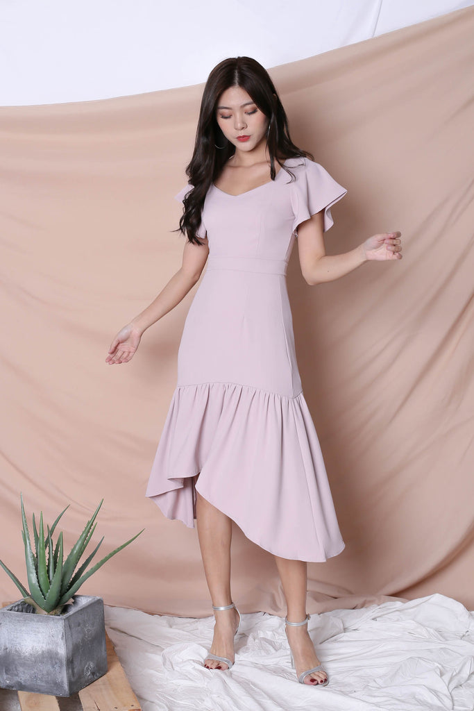 *TPZ* (PREMIUM) SARINA DRESS IN DUSTY PINK - TOPAZETTE