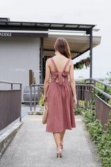 INGRID BUTTONED DRESS IN DUSTY CORAL