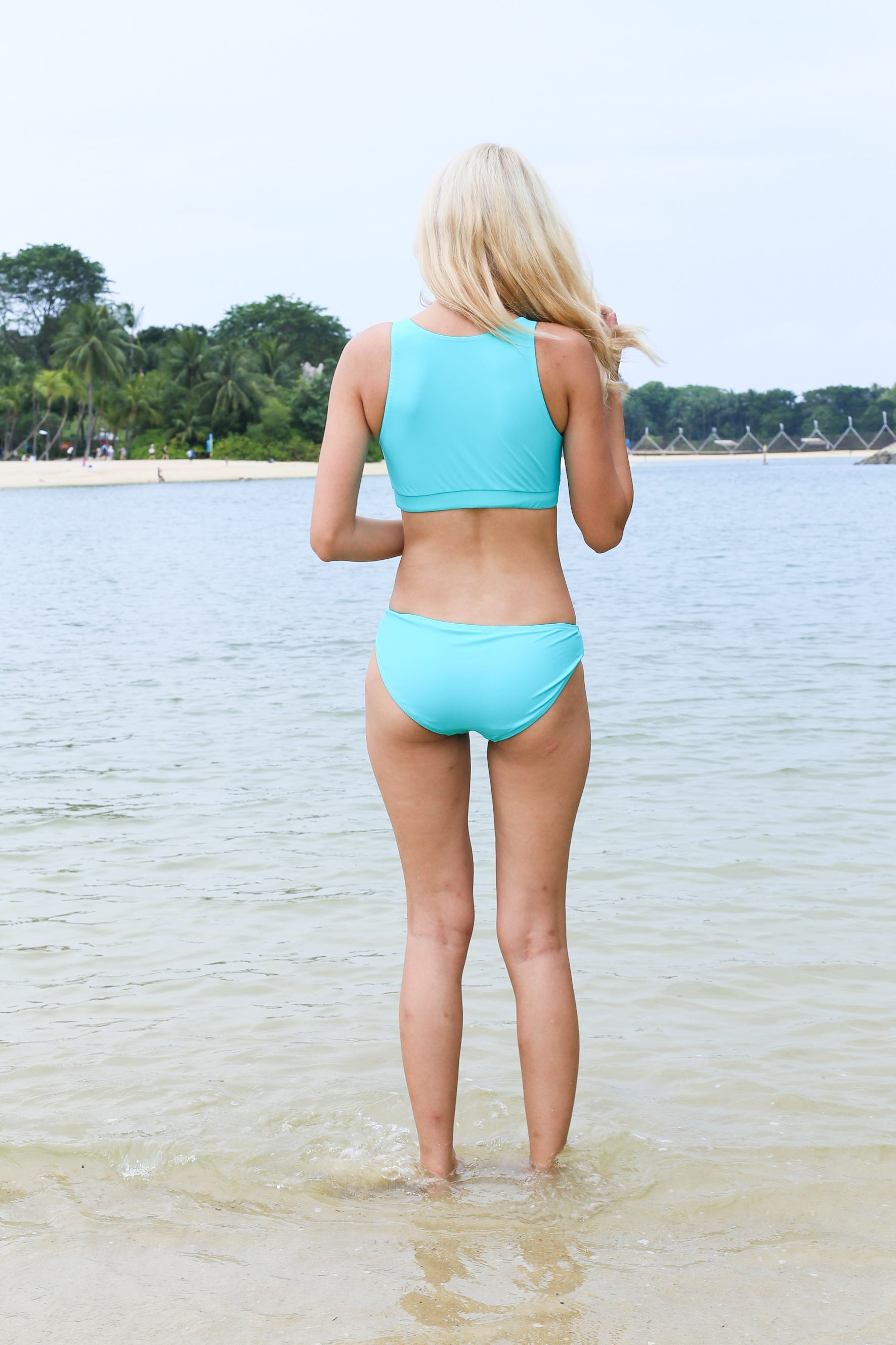 *RESTOCKED* MESH IT SPORTY BIKINI SET (TURQUOISE)