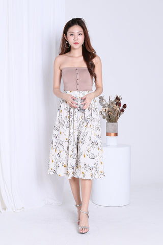 *RESTOCKED* GWEN FLORAL CULOTTES IN OFF WHITE