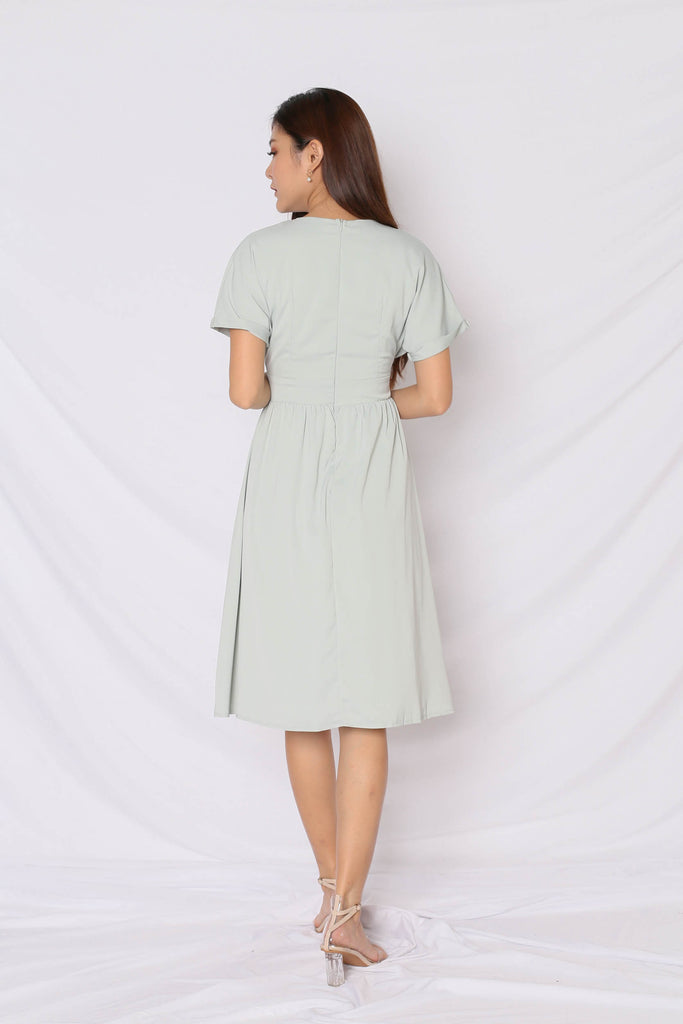 *TPZ* (PREMIUM) GLADYS POCKET DRESS IN MINT - TOPAZETTE